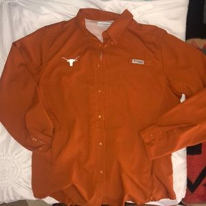 Texas Longhorns Colombia Button Up